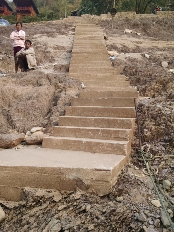The stairs in PakBeng. They were worse in Luang Prabang.